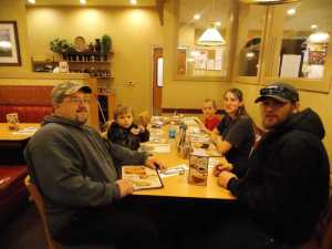 Shari's for pie at 10 p.m. last night.